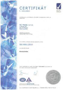 ISO 9001:2015 a 14001:2015
